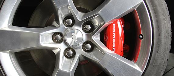 Pintura de rodas e pinça de freio