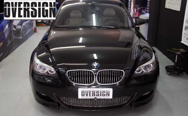 BMW M5 V10 Branco Pérola Power Revest Envelopamento Liquido OVERSIGN (3)