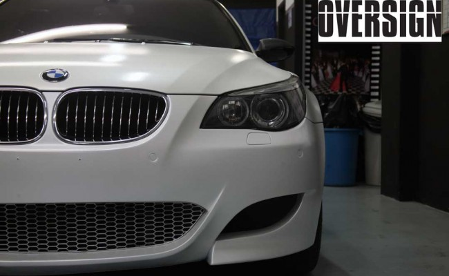 BMW M5 V10 Branco Pérola Power Revest Envelopamento Liquido OVERSIGN (39)