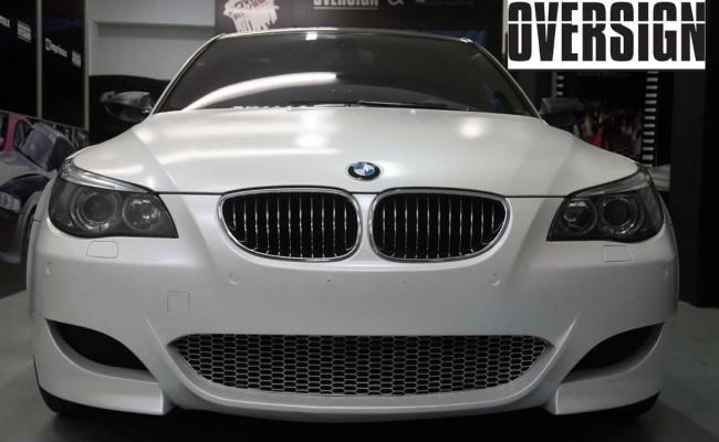 BMW M5 V10 Branco Pérola Power Revest Envelopamento Liquido OVERSIGN (40)