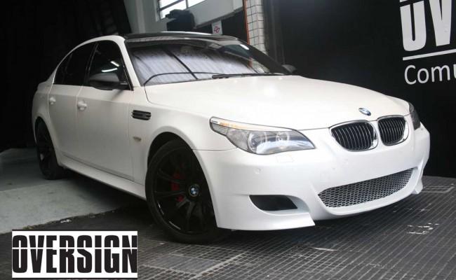 BMW M5 V10 Branco Pérola Power Revest Envelopamento Liquido OVERSIGN (45)