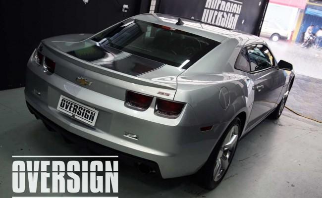 Camaro Laranja, envelopamento Líquido Laranja, Power Revest, OVERSIGN (01)