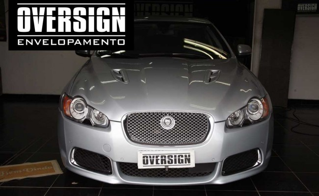 Jaguar XFR Envelopado preto, Jaguar envelopado, Jaguar oversign, Jaguar black piano (3)