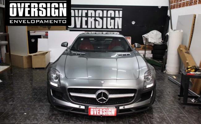 Mercedes SLS, Mercedes SLS envelopada, SLS envelopada, SLS porta de gaivota, oversign (10)