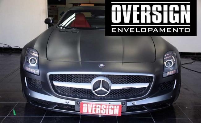 Mercedes SLS, Mercedes SLS envelopada, SLS envelopada, SLS porta de gaivota, oversign (55)