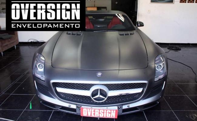 Mercedes SLS, Mercedes SLS envelopada, SLS envelopada, SLS porta de gaivota, oversign (56)