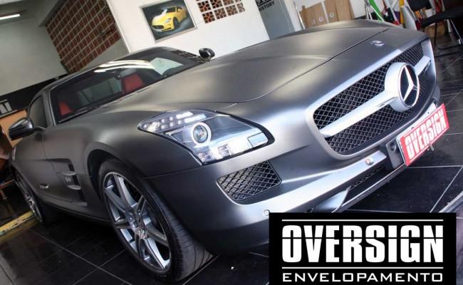Mercedes SLS, Mercedes SLS envelopada, SLS envelopada, SLS porta de gaivota, oversign (57)