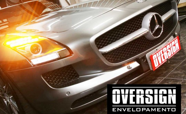 Mercedes SLS, Mercedes SLS envelopada, SLS envelopada, SLS porta de gaivota, oversign (6)