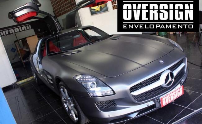 Mercedes SLS, Mercedes SLS envelopada, SLS envelopada, SLS porta de gaivota, oversign (60)
