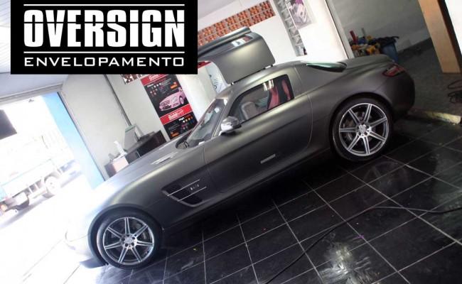 Mercedes SLS, Mercedes SLS envelopada, SLS envelopada, SLS porta de gaivota, oversign (62)