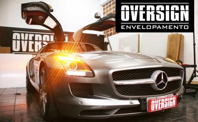 Mercedes SLS, Mercedes SLS envelopada, SLS envelopada, SLS porta de gaivota, oversign (8)