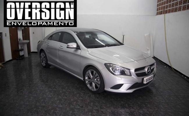 Mercedes benz, mercedes prata fosco, envelopamento liquido, power revest, (2)