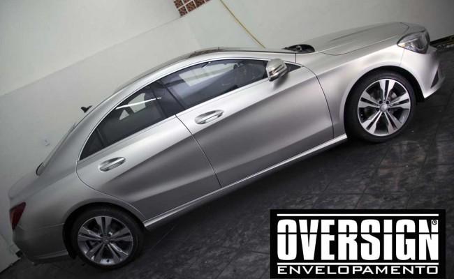 Mercedes benz, mercedes prata fosco, envelopamento liquido, power revest, (21)