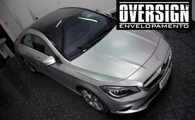Mercedes benz, mercedes prata fosco, envelopamento liquido, power revest, (22)