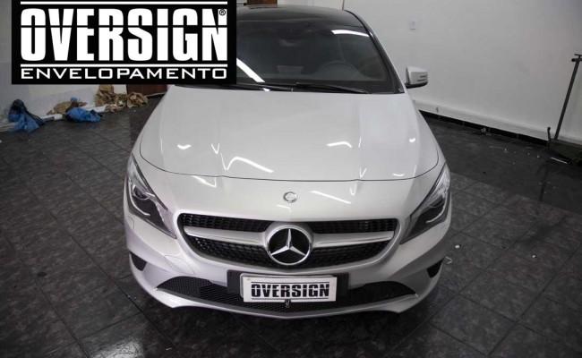 Mercedes benz, mercedes prata fosco, envelopamento liquido, power revest, (5)