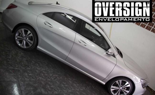 Mercedes benz, mercedes prata fosco, envelopamento liquido, power revest, (7)