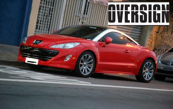 Peugeot RCZ chumbo para vermelho.