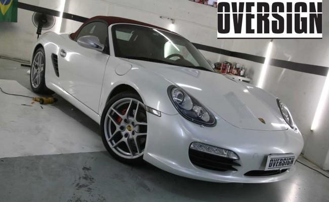 Porsche Boxster Branco Pérola, envelopamento branco pérola, porsche, oversign, ferrari, lamborguini (36)