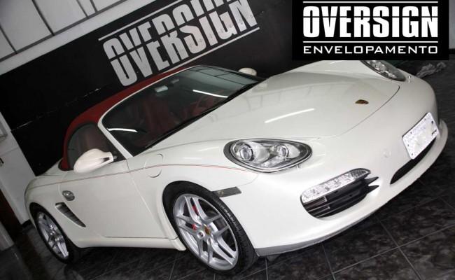 Porsche Boxster S cromada, Porsche cromada, porsche black chromo, avery dennison, adesivo cromado, carro cromado, oversign, (3)