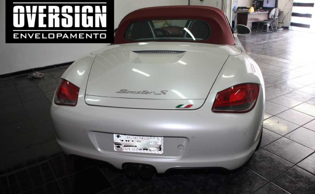 Porsche Boxster S cromada, Porsche cromada, porsche black chromo, avery dennison, adesivo cromado, carro cromado, oversign, (4)