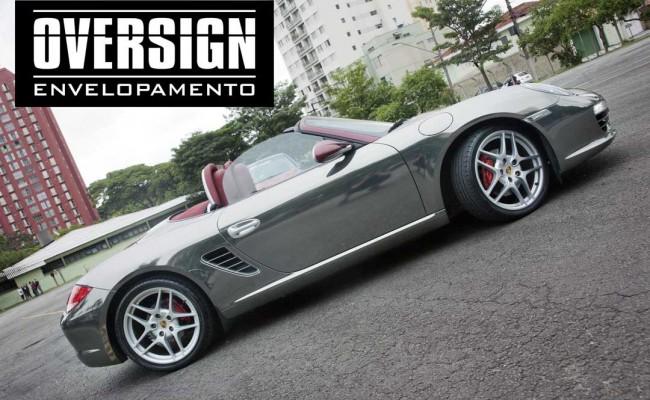Porsche Boxster S cromada, Porsche cromada, porsche black chromo, avery dennison, adesivo cromado, carro cromado, oversign, (49)