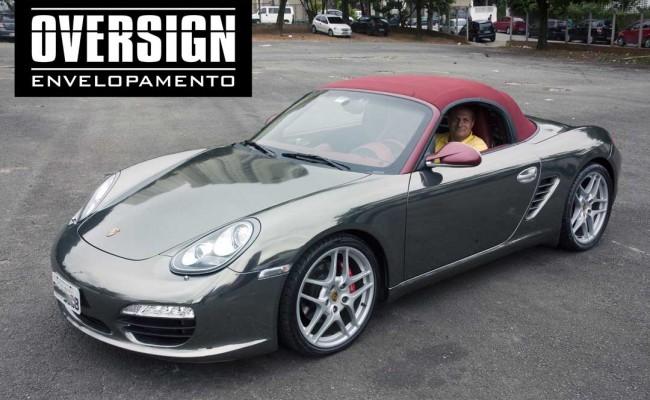 Porsche Boxster S cromada, Porsche cromada, porsche black chromo, avery dennison, adesivo cromado, carro cromado, oversign, (54)