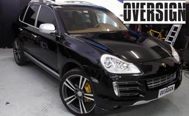 Porsche Cayenne 2008 Preto, envelopamento liquido preto fosco OVERSIGN, Power revest FX Chrome (01)