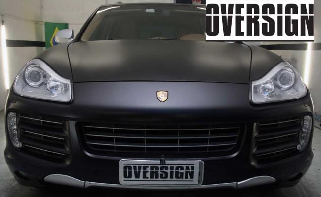 Porsche Cayenne 2008 Preto, envelopamento liquido preto fosco OVERSIGN, Power revest FX Chrome (24)