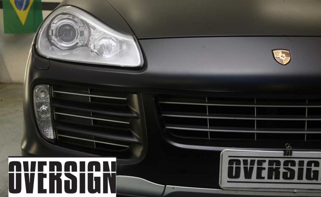Porsche Cayenne 2008 Preto, envelopamento liquido preto fosco OVERSIGN, Power revest FX Chrome (25)