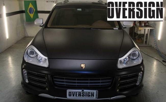 Porsche Cayenne 2008 Preto, envelopamento liquido preto fosco OVERSIGN, Power revest FX Chrome (26)