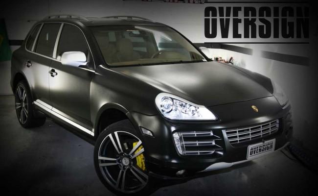 Porsche Cayenne 2008 Preto, envelopamento liquido preto fosco OVERSIGN, Power revest FX Chrome (33)