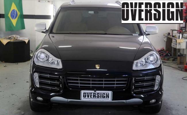 Porsche Cayenne 2008 Preto, envelopamento liquido preto fosco OVERSIGN, Power revest FX Chrome (7)