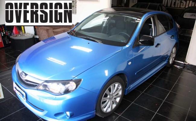 Subaru Impreza Azul Metálico, subaru envelopado azul, subaru azul, avery dennison, vannucchi, oversign, (33)