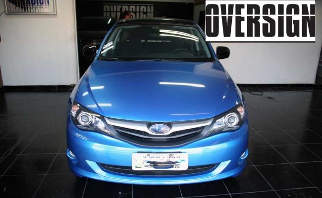 Subaru Impreza Azul Metálico, subaru envelopado azul, subaru azul, avery dennison, vannucchi, oversign, (34)