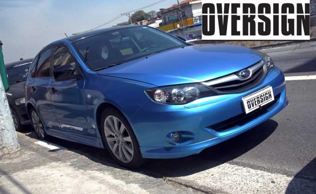 Subaru Impreza Azul Metálico, subaru envelopado azul, subaru azul, avery dennison, vannucchi, oversign, (37)