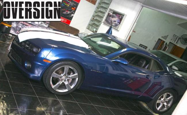 Camaro Azul, Camaro envelopado, Avery Dennison, OVERSIGN, wrapping, supreme wrapping, camaro, chevrolet, wrapping camaro, dark blue (46)