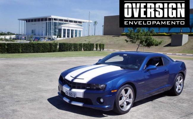 Camaro Azul, Camaro envelopado, Avery Dennison, OVERSIGN, wrapping, supreme wrapping, camaro, chevrolet, wrapping camaro, dark blue (85)