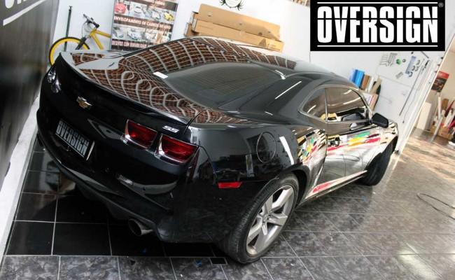 Camaro SS, Camaro SS preto, Camaro Preto, Camaro envelopado, Camaro aço escovado, Black Brushed Metallic, Oversign, (3)