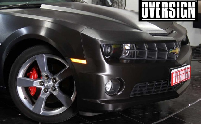 Camaro SS, Camaro SS preto, Camaro Preto, Camaro envelopado, Camaro aço escovado, Black Brushed Metallic, Oversign, (37)