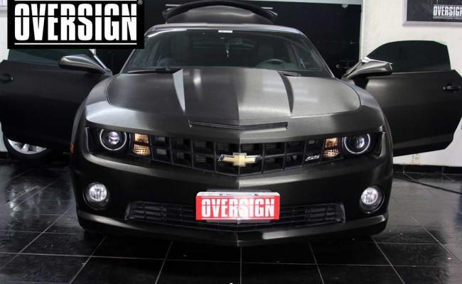 Camaro SS, Camaro SS preto, Camaro Preto, Camaro envelopado, Camaro aço escovado, Black Brushed Metallic, Oversign, (39)