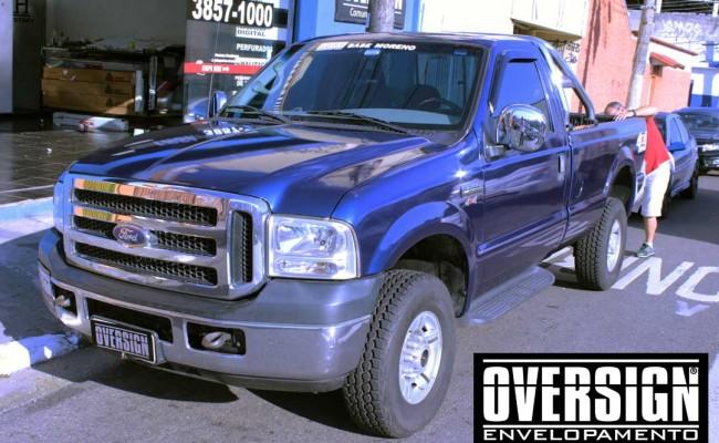 F250, F250 super duty, super duty, f250 azul, f250 azul metalico, envelopamento de carros, envelopamento automotivo, avery dennison (16)