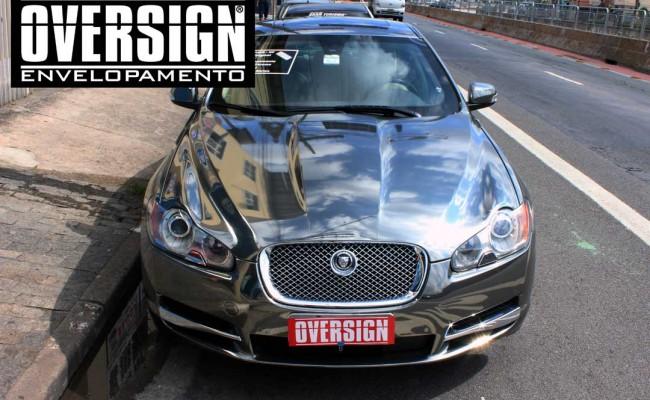Jaguar xf, Jaguar cromado, Jaguar, Envelopamento, adesivo cromado, sidisign, oversign, avery dennison, supreme wrapping, jaguar brasil, (50)
