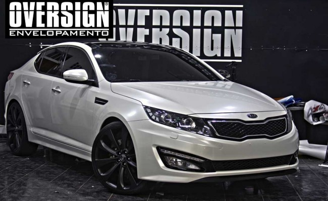 Kia Optima Branco Pérola, envelopamento, envelopamento de carros, envelopamento sp, oversign, kia, optima, avery dennison, white pearlescent, (22)
