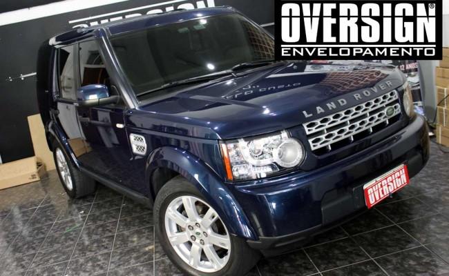 Land Rover Discovery 4, envelopamento branco, adesivo alto brilho, envelopamento de carros, carros de luxo, range rover, evoque, sport, vogue, oversign, (2)