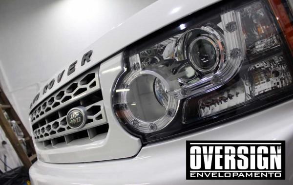 Land Rover Discovery 4 envelopamento Branco super Brilho.