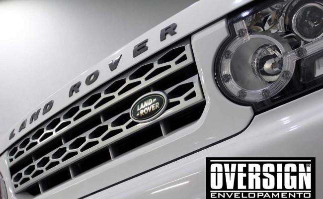 Land Rover Discovery 4, envelopamento branco, adesivo alto brilho, envelopamento de carros, carros de luxo, range rover, evoque, sport, vogue, oversign, (27)