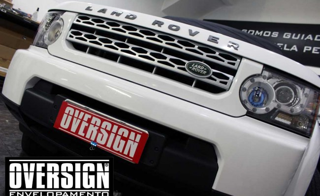 Land Rover Discovery 4, envelopamento branco, adesivo alto brilho, envelopamento de carros, carros de luxo, range rover, evoque, sport, vogue, oversign, (28)