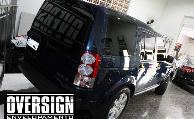 Land Rover Discovery 4, envelopamento branco, adesivo alto brilho, envelopamento de carros, carros de luxo, range rover, evoque, sport, vogue, oversign, (4)