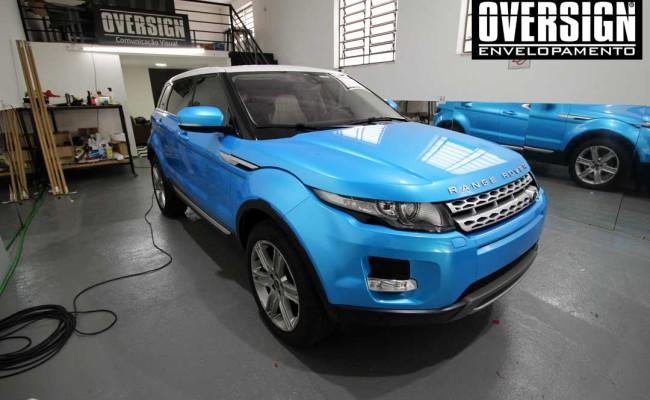 Evoque, azul, evoque azul, land rover, bahama blue, ceramic pro, proteção pintura, oversign, ceramicpro, envelopamento, evoque azul claro, (38)
