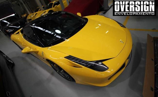 Ferrari F458, ferrari amarela, ferrari black piano, ferrari teto black piano, adesivo black piano, envelopamento de teto, adesivo teto, oversign, Ceramic pro, (16)